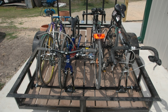 bikes on trailer